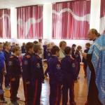 Воспитанникам казачьих классов рассказали о празднике Покрова Богородицы
