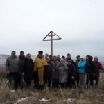 Совершен чин освящения поклонного креста на въезде в село Широкий Буерак