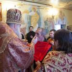 Божественная литургия в тюремном храме во имя святителя и чудотворца Николая при ОТБ №1 г. Саратова