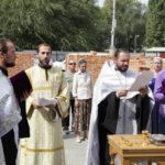 В Заводском районе Саратова совершен чин основания храма во имя святой великомученицы Екатерины