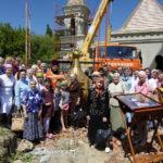 Совершено освящение крестов и куполов храма во имя Святых Царственных Страстотерпцев