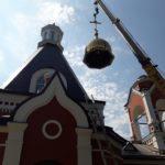 Завершена установка крестов и куполов Борисоглебского храма города Саратова