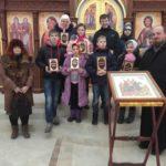 Посещение строящегося Борисоглебского храма воспитанниками Центра «Возвращение»