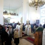Архиерейское служение Литургии в храме в честь Казанской иконы Божией Матери Всехсвятского благочиния
