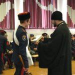 Священник принял участие в церемонии выборов нового атамана школы