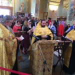 Духовенство Всехсвятского благочиния совершило молебен у мощей Святителя Спиридона
