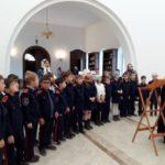 Ученики казачьих классов 43 школы вспоминали историю праздника Покрова Божией Матери