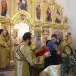 Божественная литургия в храме во имя святых Царственных страстотерпцев г. Саратова