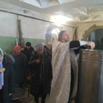Великое освящение воды в селе Синенькие