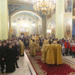 Благочинный и клирики храмов Всехсвятского благочиния приняли участие в архиерейском служении вечерни с чином прощения